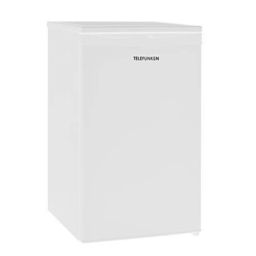 Telefunken CF-32-151-W Kühlschrank mit Gefrierfach / 83,8 cm / 84 kWh/Jahr / 81 L Nutzinhalt / 73 L Kühlteil / 8 L Gefrierteil/wechselbarer Türanschlag/Höhenverstellbare Füße, weiß