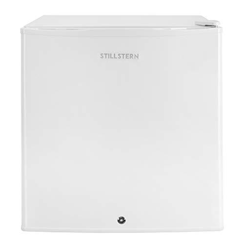 Mini-Kühlschrank mit Schloss A++ (43 Liter) und Abtauautomatik, LED-Innenbeleuchtung, Frostfach, Eierablage, Türablagen, Leise, Minikühlschrank