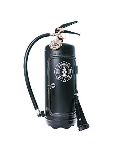 Die Firebar in schwarz/Die ultimative Minibar für echte Rocker und coole Typen! Männerhandtasche aus einem echten Feuerlöscher gefertigt. Edel, cool und einzigartig!