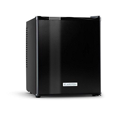 Klarstein MKS-11 - Minibar, Mini-Kühlschrank, Getränkekühlschrank, 25 Liter, geräuschloser Betrieb, 1 Regaleinschub, 2 Seitenfächer, 3-stufiger Temperaturregler, matt-schwarz