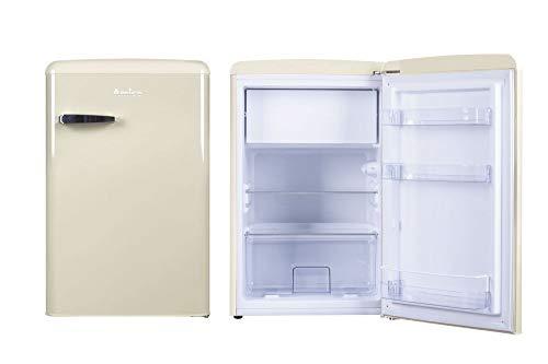 Amica Retro Kühlschrank Creme KS 15615 B 108 Liter mit Gefrierfach Standgerät Coffee Creme
