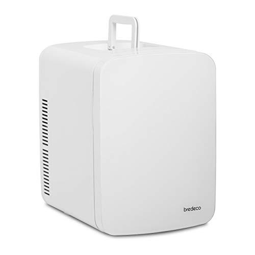 bredeco BCMF-15L Mini Kühlschrank Minikühlschrank Tischkühlschrank Kühlschrank Mini Retro Kühlschrank klein Kleinkühlschrank Mini Kühlschrank retro 15 L weiß/grau