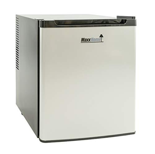 MaxxHome Mini-Kühlschrank - Camping hotel - 230 V - EEK B - Kühlbereich: 5-12 °C - 42 Liter (Silver)