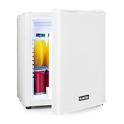Klarstein Happy Hour - Minibar, Mini-Kühlschrank, Getränkekühlschrank, Kompression, Kühltemperatur: 5-15 °C, lautlos: 0 dB, LED-Licht, 25 Liter weiß
