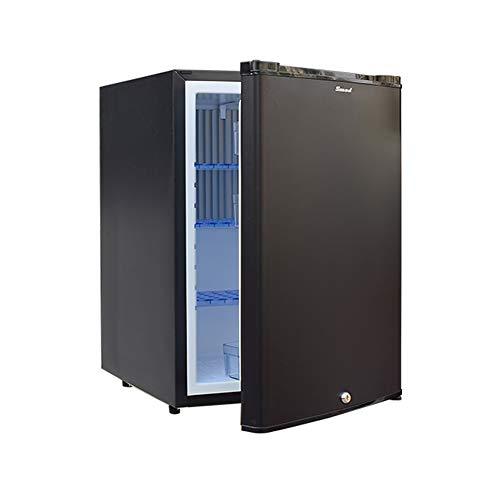 Smad Kühlschrank 12V 230V, 50L Wohnmobil kühlschrank für Camping, Auto, LKW, Büro, Wohnheim | 0-10 ° C | Lautlos | Silent | Schwarz