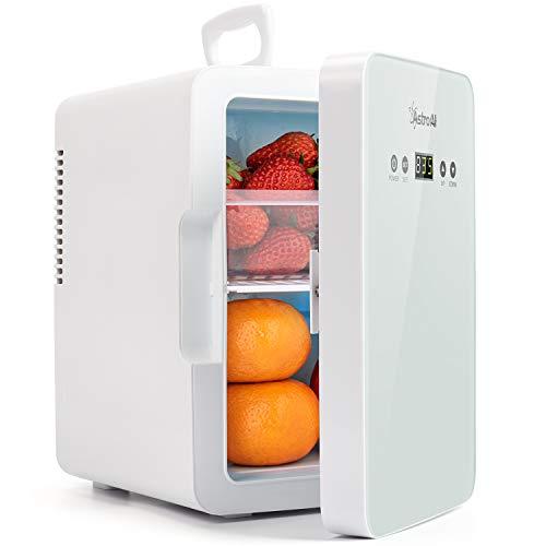 AstroAI Mini Kühlschrank 6 Liter Frige mit Temperaturregelung - AC/12V(220V) DC Tragbarer thermoelektrischer Kühler und Wärmer für Schlafzimmer, Kosmetik, Muttermilch, Büro und Reisen