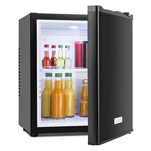 Klarstein MKS-10 Mini Kühlschrank Minibar Getränkekühlschrank (19 Liter Volumen, 0 dB, geräuschloser Betrieb, Innen-Beleuchtung)
