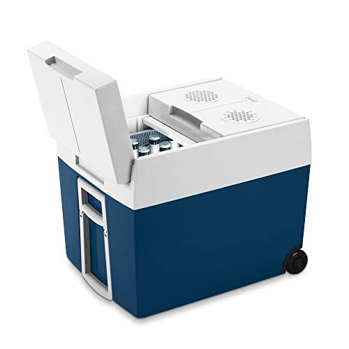 Mobicool MT48W AC/DC - elektrische Kühlbox mit Rollen passend für eine komplette Getränkekiste / Bierkiste, 48 Liter, 12 V und 230 V für Auto, Lkw, Boot, Reisemobil und Steckdose