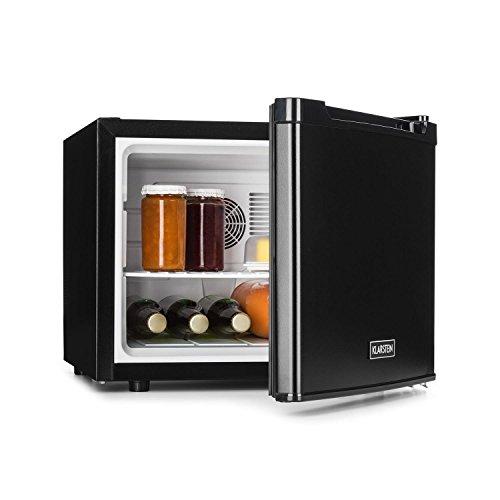 Klarstein Manhattan - Minibar, Mini-Kühlschrank, Getränkekühlschrank, 35 Liter, 3-stufiger Temperaturregler, wechselbarer Türanschlag, schwarz