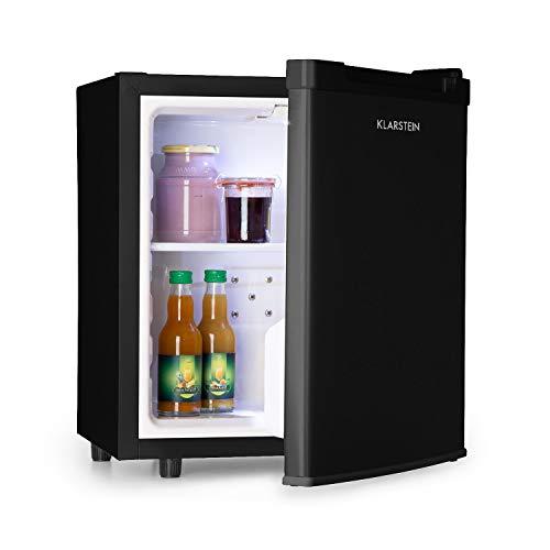 Klarstein Silent Cool Minibar Minikühlschrank Mini Snacks- und Getränkekühlschrank (2 Etagen, 4,5-15°C stufenlos, Temperaturregler, 30 Liter, 24dB leiser Betrieb, platzsparend) schwarz