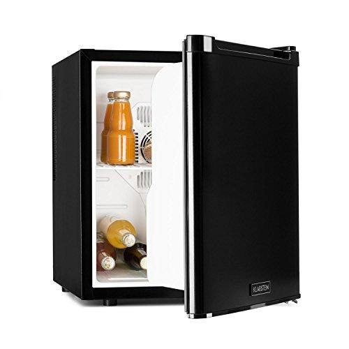 Klarstein CoolTour - Minibar, Mini-Kühlschrank, Getränkekühlschrank, 12 Volt-Anschluss, Outdoorgeeignet, Camping, Truck, 48 Liter, geräuscharm, Leistung 70 Watt, schwarz