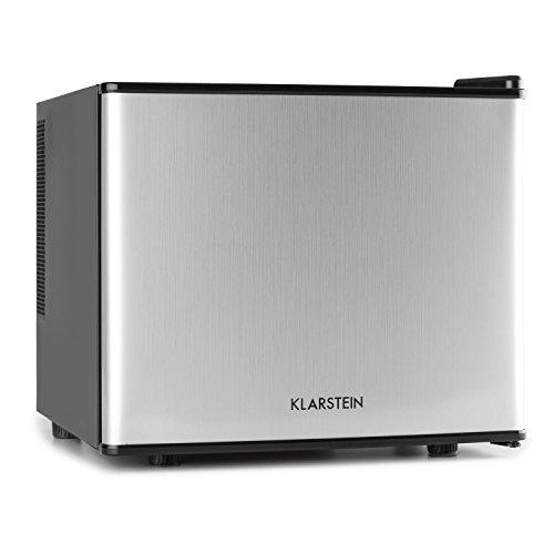 Klarstein Geheimversteck Minibar Minikühlschrank Mini Snacks- und Getränkekühlschrank (EEK: A+, 17 L, 38 dB leise, herausnehmbarer Regaleinschub, stufenloser Temperaturregler) silber