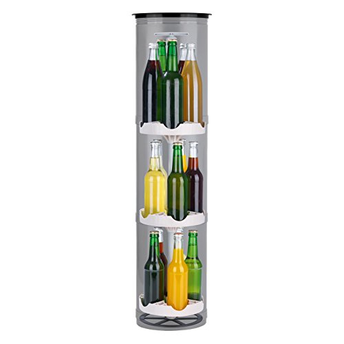 EASYmaxx Flaschenkühler Outdoor | Der stromlose Kühlschrank für den Garten | Für Bier und andere Getränke, 3 Stellflächen für bis zu 15 Flaschen, speziell isolierter Deckel