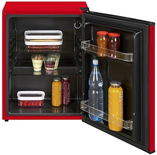 Mini Kühlschrank Ohne Gefrierfach Minibar 58l A++ 62cm Hoch Rot/Schwarz