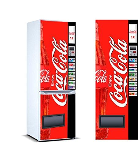 Oedim Vinyl kühlen Cocacola | 185cm(breite) x 60cm(groß) | Vinyl für den wirtschaftlichen Kühlschrank und mit hoher Druckqualität